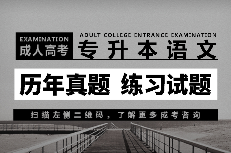 2018年成人高考专升本语文历年真题_练习试题