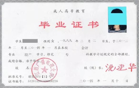 2019年重慶成人高考 成考畢業證書